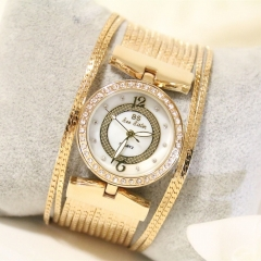New Women Watch Luxury Brand Fashion Casual Ladies Gold Watch Quartz Simple Clock gold