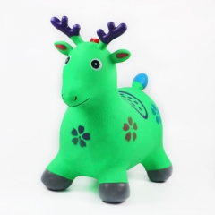 Children's inflatable toys increase the thickening of children's music painting jump jump horse green 58 * 50 *28cm