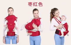 Comfortable Baby Carrier Four Seasons Multifunctional Baby Waist Stool Baby Slings for Baby red one size