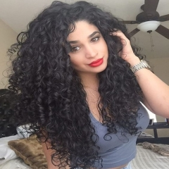 Lace Front Wig 1B# Black 20 Inch Afro Kinky Long Curly Hair Black Wigs For African American Women 2# 50cm