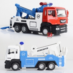 Alloy car models engineering car wrecker truck trailer rescue vehicle child boy toy car model red 18.5*7.5*7.5 CM