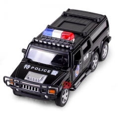 1:32 scale swat cop car alloy pull back car toy diecasts metal model toy vehicle sound&light toys Black 17*6*5.5 CM