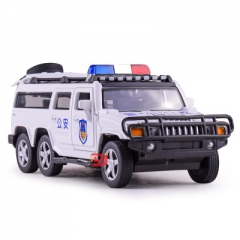 1:32 scale swat cop car alloy pull back car toy diecasts metal model toy vehicle sound&light toys White 17*6*5.5 CM
