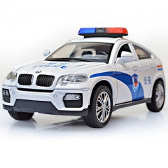 1:32 Toy Car X6 Police Metal Toy Alloy Car Diecasts & Toy Vehicles Car Model Car Toys For Children white 15*6.5*5 cm