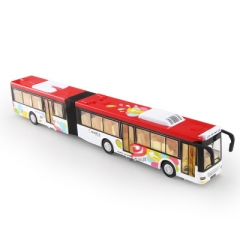 1:50 alloy pull back double bus,high simulation city bus model,toy vehicles,metal diecasts white 32.5*5.5*5 CM