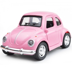 Q styles Cartoon Light & Sound alloy simulation car model mini Beetle classic pull back toy car Beetle classic car About 10*5.5*5CM