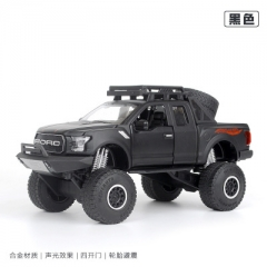 1:32 Ford F150 Raptor Pickup SUV Off-road Alloy Diecast Toy Vehicle Car Model Collection Gift black 18.5*8.5*9 CM