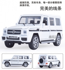 1/32 Simulation Toy Diecast Alloy Car Model Music Sound Lighting SUV Models Off-road Vehicles Model white 15.5*6*6.3 cm