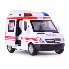 Simulation 1:32 Ambulance Car Vehicle Alloy Diecast Toy Car Model Gift Cars Toys For Children ambulance 14.5*6.5*7.5 CM