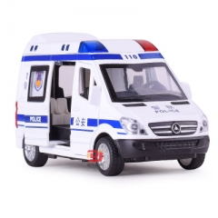 Simulation 1:32 Ambulance Car Vehicle Alloy Diecast Toy Car Model Gift Cars Toys For Children White police car 14.5*6.5*7.5 CM