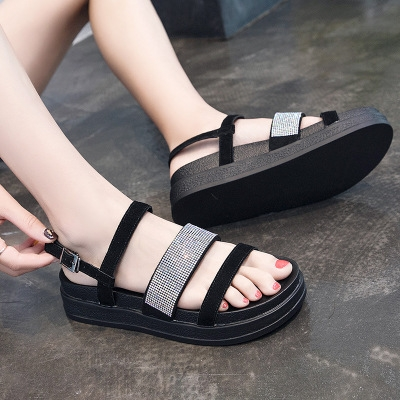 745a2253cb212 New shoes Summer sandals women peep-toe sandalias flat Shoes Roman sandals  shoes woman black 34: Product No: 1658058. Item specifics: Brand: