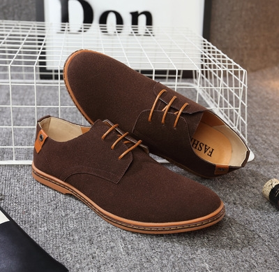 ccdfc19c2fb Fashion men casual shoes new spring men flats lace up male suede oxfords men  leather shoes brown 40 Microfiber  Product No  1665368. Item specifics   Brand