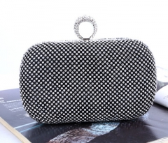 Women rhinestones clutch bags ladies evening bags crystal wedding bridal handbags bags black 16.0 cm * 5.0 cm * 10.0 cm