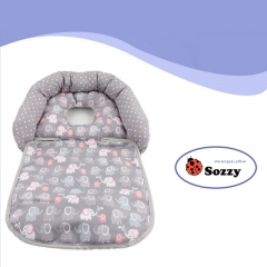 Baby Stroller Accessories Infant Headrest Shaping Pillow Newborn Head Body Support Safety Pillow gray 24.0 cm * 21.0 cm * 8.0 cm