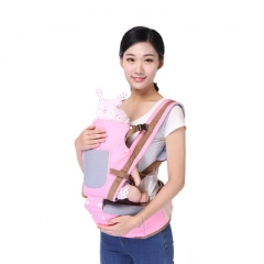 0-36 Months Baby Waist Stool Baby Carrier For Infant Breathable Belt For Baby Four Seasons Pink one size