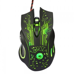 6D USB Cable Game Mouse 3200 DPI 6 Button LED Optical Professional Mouse Professional Mouse Laptop black one size