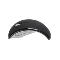 SeenDa Wireless Mouse 2.4G Folding Mouse Travel Notebook Mute Mini Mouse Nano USB Receiver PC black one size