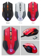 Silent wireless mouse USB optical mouse silent rechargeable mice 2400 DPI built-in 、 PC laptop black one size