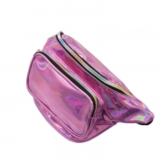 New pockets mobile phone storage bag fashion Messenger chest bag running purple 32*18*7cm