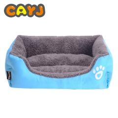 Warm candy color pet nest sofa bed cat litter Teddy dog kennel blue S