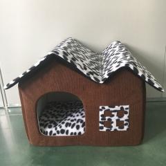 Pet supplies kennel spot double top house pet mat detachable coffee 50*40*42cm