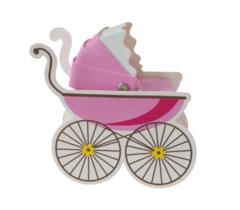 100pcs/bag European candy box, new personality trolley, baby birthday candy box, birthday gift box pink