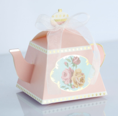 50pcs/bag New creative bronzing European style royal tea pot, candy box, retro sugar box pink
