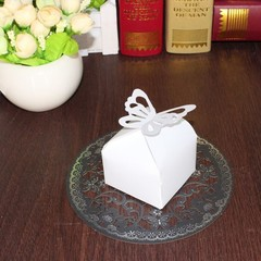 100pcs/bag Pearlescent paper, creative butterfly candy box, European candy box, wedding articles white