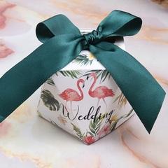 100pcs/bag New European diamond wedding candy box Creative Wedding Candy Bag Wedding supplies deep green