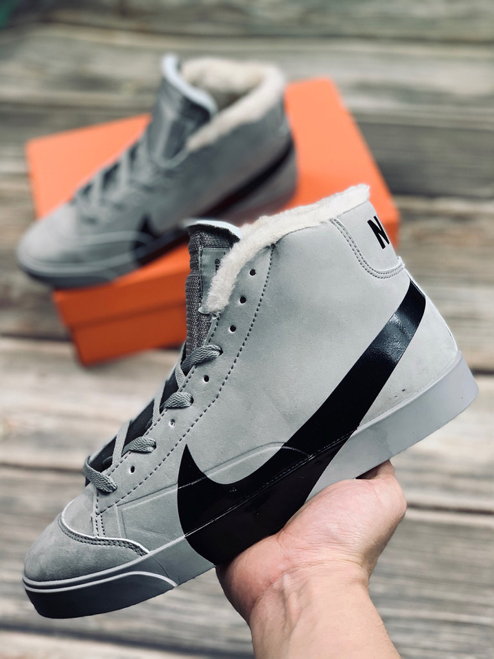 timeless design cc144 b9084 Nike Blazer City Low XS Christmas fashion Casual shoes Men's and women's  style gray 38