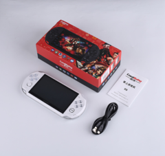 Cool boy X9 retro GBA/NES handheld game console gift PSP handheld support to download FC games white 8G