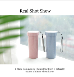 High quality heat resistant creative straw hand bottles of portable water cup 2 one size