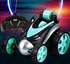 Wireless remote control 360 degree rotary toy car Boy toy car  resistance to collision avoidance 1 one size