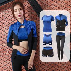2019  rapid drying female outdoor jogging suits sports fitness clothing yoga clothing 5ps s 1