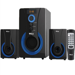 W & X  W1 MULTIMEDIA SPEAKER SYSTEM POWERFUL ENERGETIC 100% WOODEN MADE SUPER WOOFER BLACK BLACK 29W+15W*2 W1