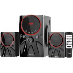 W & X  W3  MULTIMEDIA SPEAKER SYSTEM POWERFUL ENERGETIC 100% WOODEN MADE SUPER WOOFER BLACK black 29w+15w*2 W3