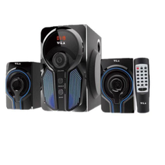 W & X  W5  MULTIMEDIA SPEAKER SYSTEM POWERFUL ENERGETIC 100% WOODEN MADE SUPER WOOFER BLACK black 29w+15w*2 W5