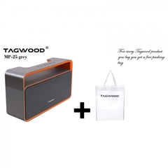 TAGWOOD MP-25 Mini Wireless Portable Bluetooth Speaker With FM Radio Grey 500W GREY 550W MP-25