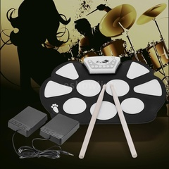 Portable drummer roll drum set USB drum set folding drum set adult drum set electronic drum set