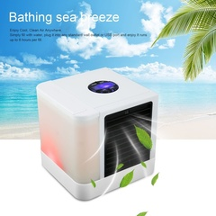 Home cooling fan cooling fan mini air conditioning fan water cooling humidifier 7 colors picture color