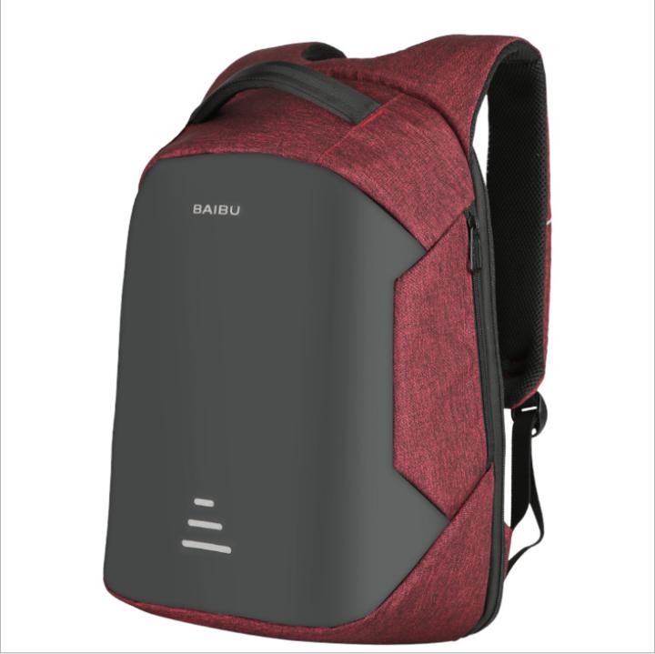 e23fa80b0b79 BAIBU NEW Men 15.6 Theft Backpack Charging School Notebook Bag Oxford  Waterproof Travel Backpack red 15.6