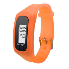 Long-life battery MultifunctionDigital LCD Pedometer Run Step Calorie Walking Distance Counter orange approx. 4.5 x 3.4 x 2.2cm