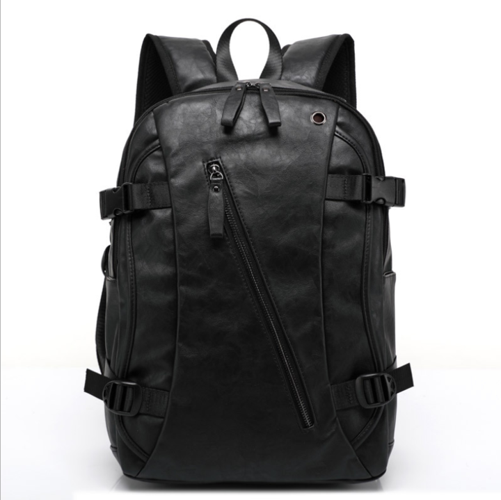 MAGIC UNION Men Oil Wax Leather Backpack Men s Casual Backpack   Travel Bags  Western black 20 17b1765146b19