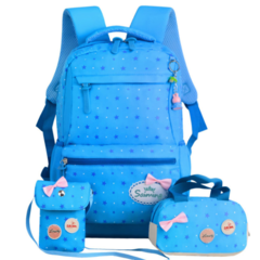 ZIRANYU star printing children backpacks For Teenagers girls Lightweight waterproof school bags blue 20-35 Litre