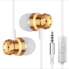 TEBAURRY TD4 Metal Turbo Earphone for phone Wired In-Ear Bass Earphones 3.5mm MP3 DJ Headset gold