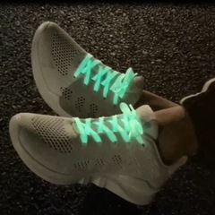 Hot Sell Unisex Sport Glowing Fluorescent Colored Laces White 80CM