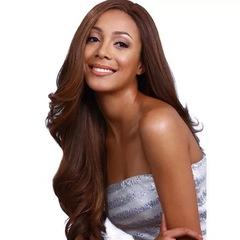Synthetic Wigs Hair Wigs Women's Wigs Long Hair Body wave Split In Half 26 inch light brown 26inch