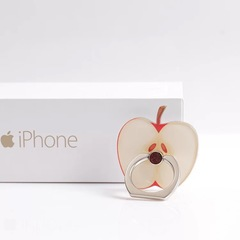 Cartoon Fruit Suitable For Universal Rotating Metal Ring Buckle Mobile Phone Flat Ring Apple one size