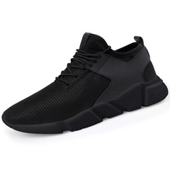 Lovers Shoes New Fashion Men's Casual Sports Shoes Outdoor Lightweight Breathable Running Shoes Black01 39