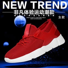 Lovers Shoes New Fashion Women's Casual Sports Shoes Outdoor Lightweight Breathable Running Shoes Red 36